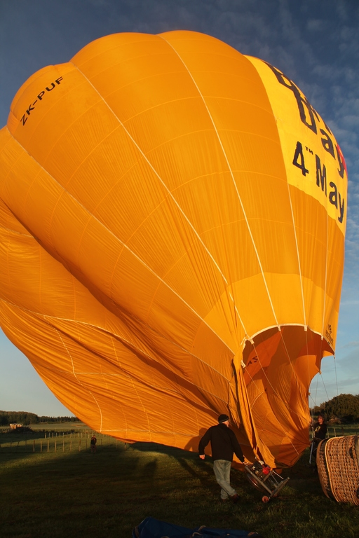Blue sky and inflating