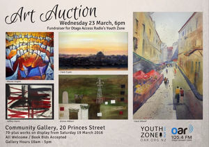 Otago Access Radio Fundraising Art Auction 6PM 23 March: