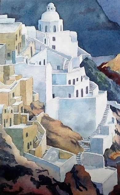 Santorini by Ron Esplin