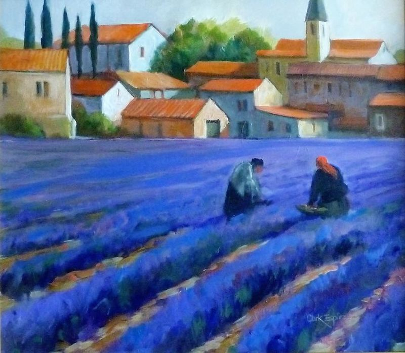 Lavender Fields by Clark Esplin
